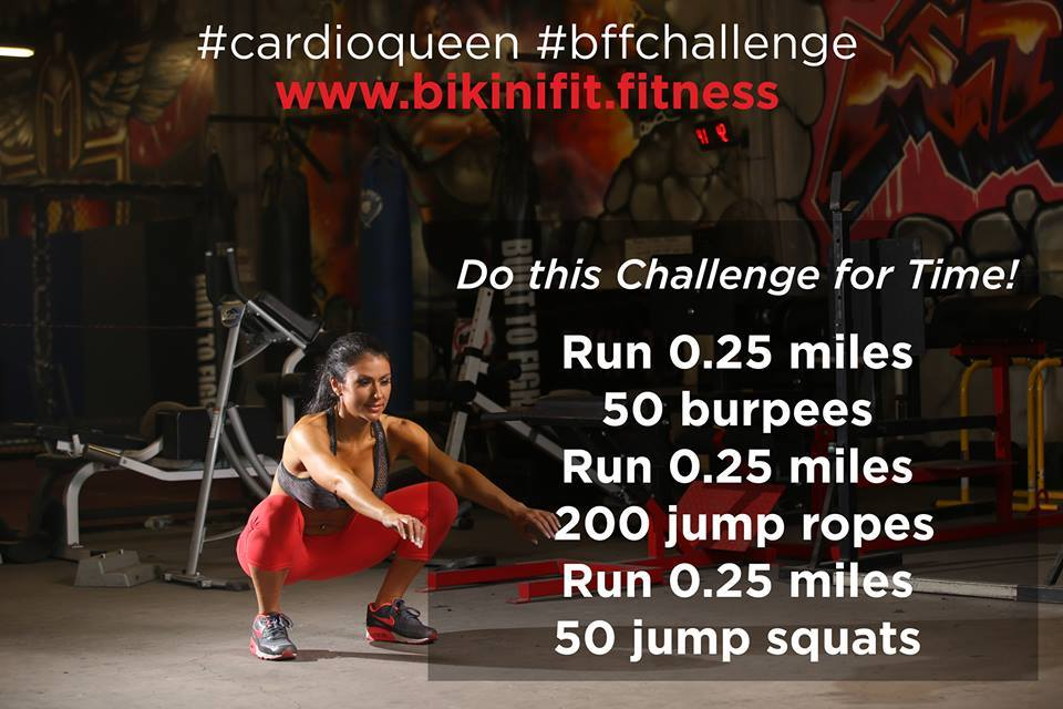 Bikini Fitness BFF Challenge Workout Cardio Queen